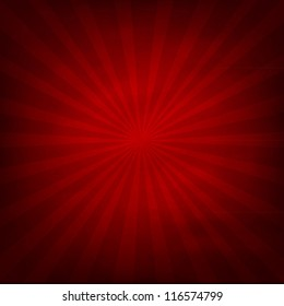 Red Texture Background With Sunburst, Vector Illustration