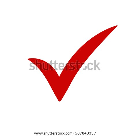 Red Tick Red Check Mark Tick Stock Vector Royalty Free 587840339