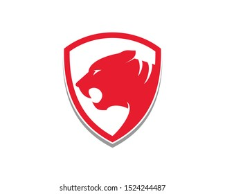 Red tiger shield beast protect