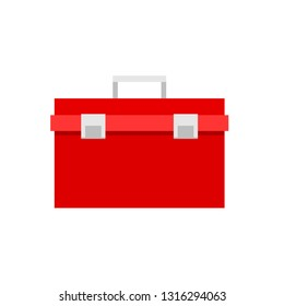 Red toolbox icon. Clipart image isolated on white background
