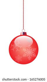 red toy for decoration of a Christmas fir-tree. vector EPS 10.