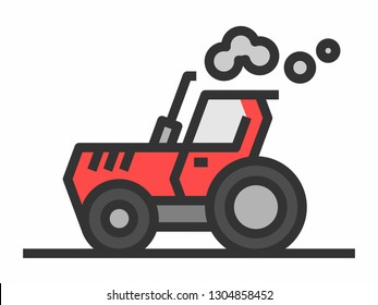 Red tracktor icon