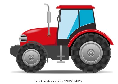 A red tractor to plow fields