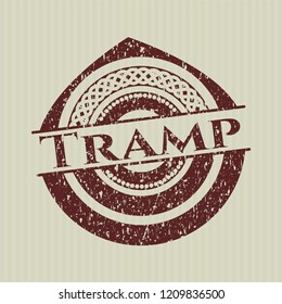 Red Tramp rubber stamp