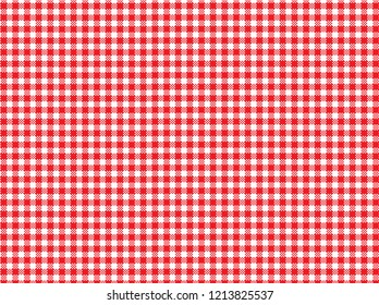 Red Trendy Flannel  Pattern for Hipster Style. Vector illustration. Editable masking vector. This pattern is match for napkin, blanket, and tablecloth or another about hospitality and kitchen.