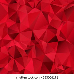 Red Triangle Abstract Background. Vector Pattern of Geometric Shapes