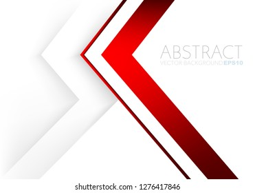 Red triangle vector background overlap layer on white space for text and background design
