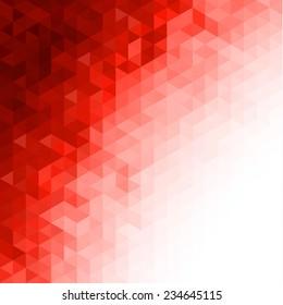 Red triangular background