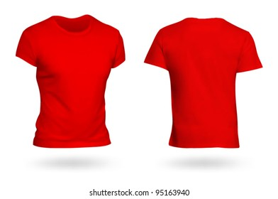 red t shirt front and back images stock photos vectors shutterstock. Black Bedroom Furniture Sets. Home Design Ideas