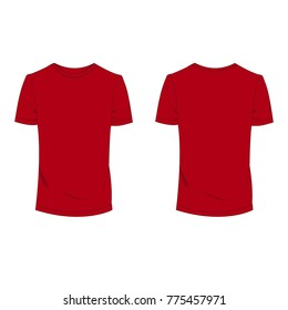 3db94655d Red T-shirt template using for fashion cloth design and assessorie for  designer to make
