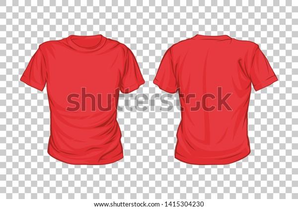 Red Tshirt Vector Template Tshirt Mockup Stock Vector Royalty