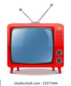 Red TV-set