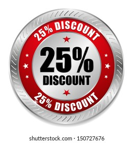 Red twenty-five percent discount button