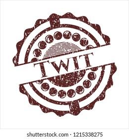 Red Twit grunge stamp