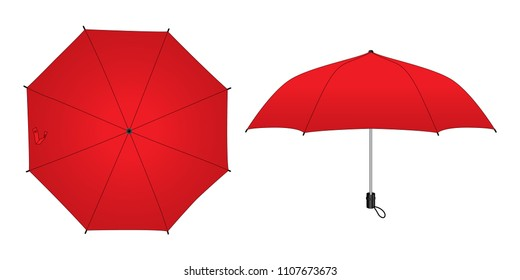 Red Unbrella for Template