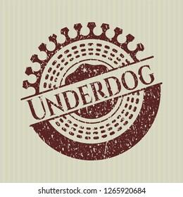 Red Underdog distress grunge seal