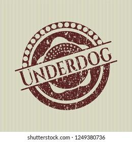 Red Underdog grunge style stamp