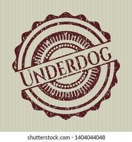 Red Underdog rubber grunge seal