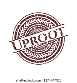 Red Uproot distressed rubber grunge texture seal
