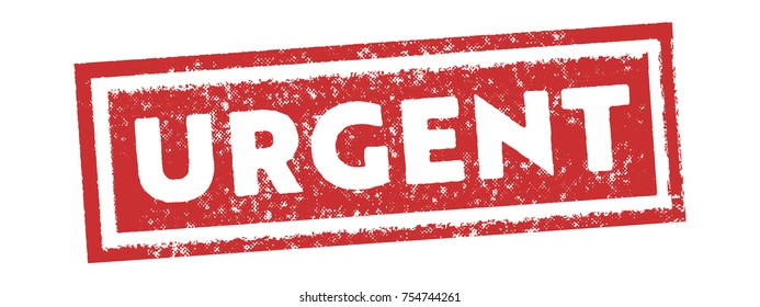 red urgent tag sign stamp