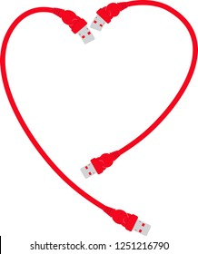 Red USB heart