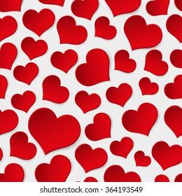 red valentine hearths symbol seamless pattern eps10