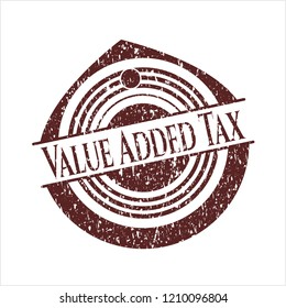 Red Value Added Tax grunge stamp