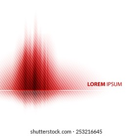 Red Vector abstract business background. Template brochure design