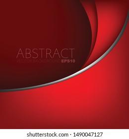 Hintergrundkurve der roten Vektorillustration mit Platz für das Design