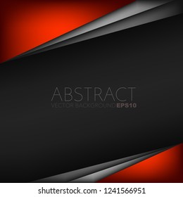 Red vector background overlap layer on black space for background design