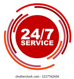 red vector banner 24/7 service