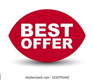 red vector banner best offer
