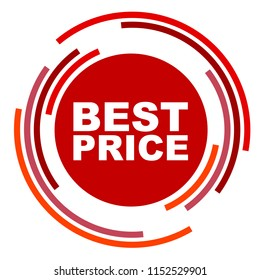 red vector banner best price