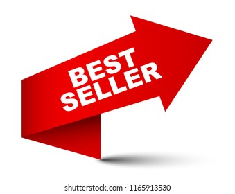 red vector banner best seller