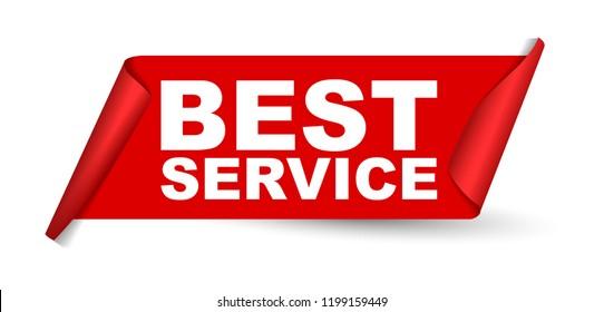 red vector banner best service