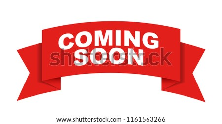 red vector banner coming soon stock vector royalty free 1161563266