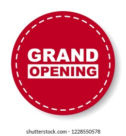 red vector banner grand opening