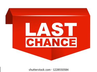 red vector banner last chance