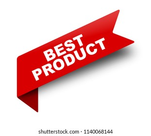 red vector banner ribbon best product