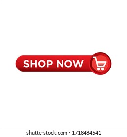 red vector banner ribbon shop now