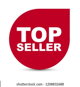 red vector banner top seller