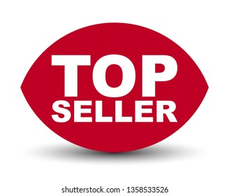 red vector banner top seller