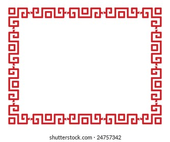 Red vector border in a chinese style