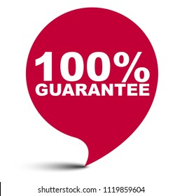 red vector bubble banner 100% guarantee