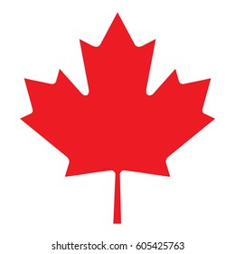 A red vector Canada leaf.