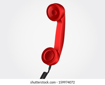 Red vector handset. File is in eps10 format.