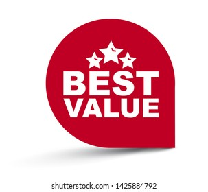 red vector illustration banner best value