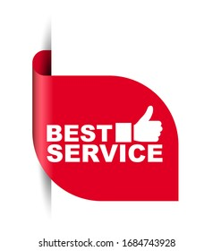 red vector illustration banner best service