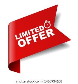 red vector illustration banner limited offer