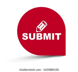 red vector illustration banner submit
